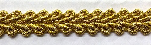 16,40m Posamentenborte 10mm breit Farbe: Lurex-Gold TSL-Bullet-C-Gold