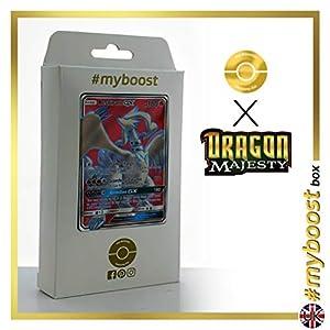 Reshiram-GX 65/70 Full Art - #myboost X Sun & Moon 7.5 Dragon Majesty - Box de 10 cartas Pokémon Inglesas