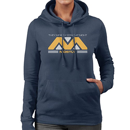 They Mostly Come At Night Alien Convent Women's Hooded Sweatshirt Navy Blue