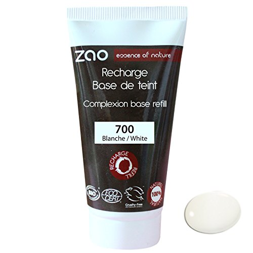 Zao Refill Light Complexion base 700 Bianco di crescita per Make Up di base Primer (Bio, vegan, ECOCERT, cosmebio, cosmetici naturali)