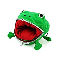 rt7fg7fd4gf Cute Green Frog Coin Bag Cosplay Props Plush Toy Purse Wallet for Naruto Lovers and Cosplay Creative Design