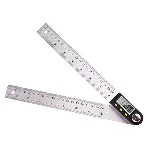 FIXKIT Digitaler Winkelmesser mit LCD-Anzeige aus Edelstahl, Länge:400mm, 360° Winkel messen, ideal für Handwerker und Heimwerker