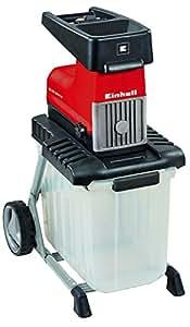 Einhell Broyeur de végétaux électrique silencieux GC-RS 2845 CB (2800 W, Bac de ramassage intégré de 60 litres, Poignée de transport)