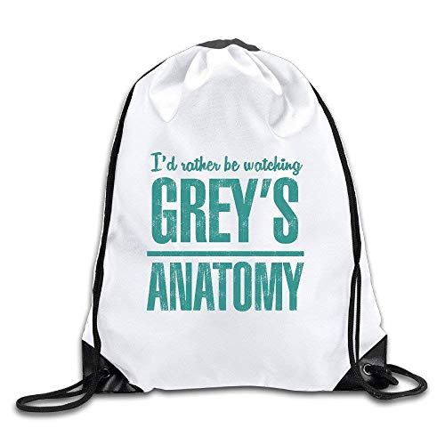 LoveBiuBiu Adult Drawstring Bags Grey's Anatomy Logo Outdoor Sackpacks Backpacks Slim-duffle