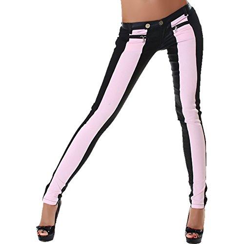 JELA London -  Pantaloni  - skinny - Donna Black / Rosa