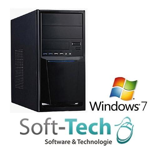 SofTech KOMPLETT Computer PC Intel Quad Core - 4x 2,4GHz - 8GB RAM - 500GB HDD - USB 3.0 - HDMI - Win7 Office