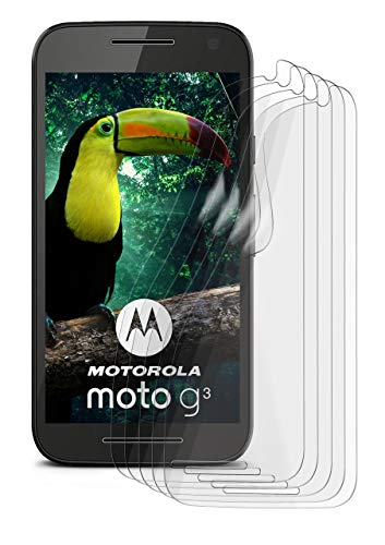 5X Motorola Moto G3   Schutzfolie Matt Display Schutz [Anti-Reflex] Screen Protector Fingerprint Handy-Folie Matte Displayschutz-Folie für Motorola Moto G 3. Generation Displayfolie