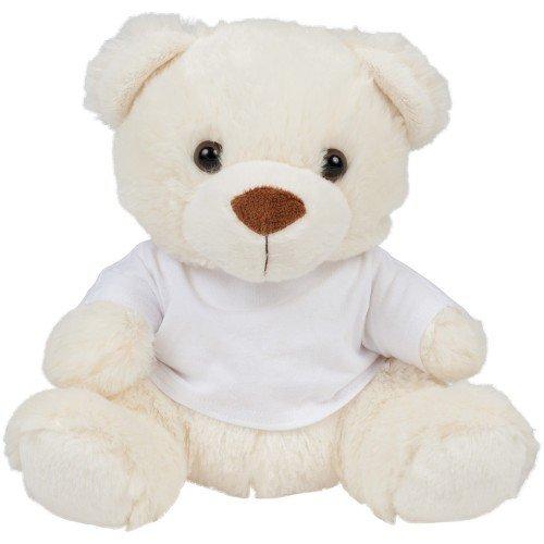 Mumbles - Peluche con diseño de osito con camiseta para niños (Mediana (M)/Crema)