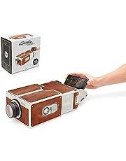 DYTesa DIY 3D Projector Cardboard Mini Smartphone Projector Light Novelty Adjustable Mobile Phone Projector Portable Cinema