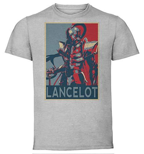 Instabuy T-Shirt Unisex - Grey Shirt - Propaganda - Fate Zero - Lancelot Größe Medium -