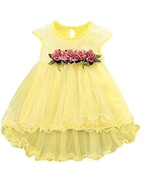 Vovotrade Niñas 0-6 años bebés del niño Verano Floral Rosa Vestido princesa Boda del partido Tulle Vestidos de...