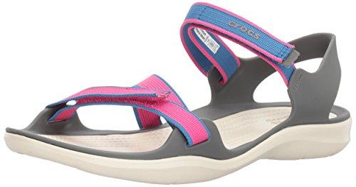 crocs - Frauen-Swiftwater-Webbing-Sandalen, EUR: 42.5, Candy Pink - Pink Frauen Crocs