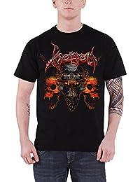 Venom T Shirt Skulls Pentagram Classic Band Logo offiziell Herren Nue Schwarz