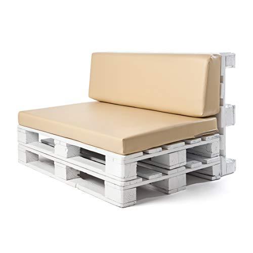 Conjunto colchoneta para sofas de palet y respaldo Beige 1 x Unidad Cojin relleno con espuma. | Cojines...