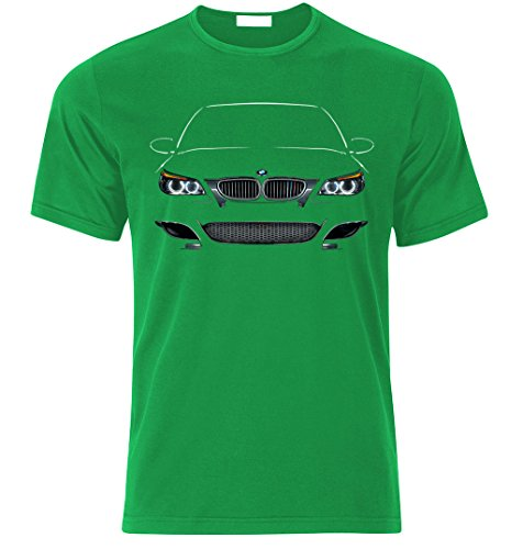 BMW M5 E60 M POWER Fan T Shirt T-SHIRT Grün