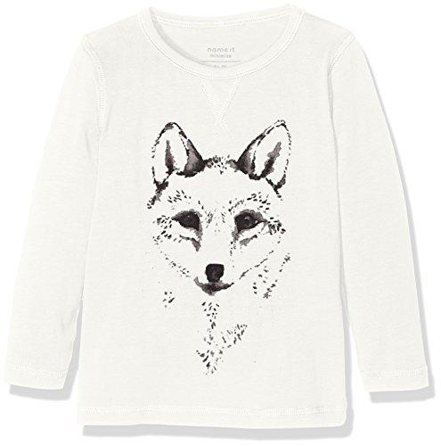 NAME IT Jungen T-Shirt Nitvux LS Top S MZ Ger, Weiß (Snow White), 104
