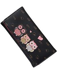 Inverse Wallet Women Simple Retro Owl Printing Long Coin Purse Card Holders Handbag