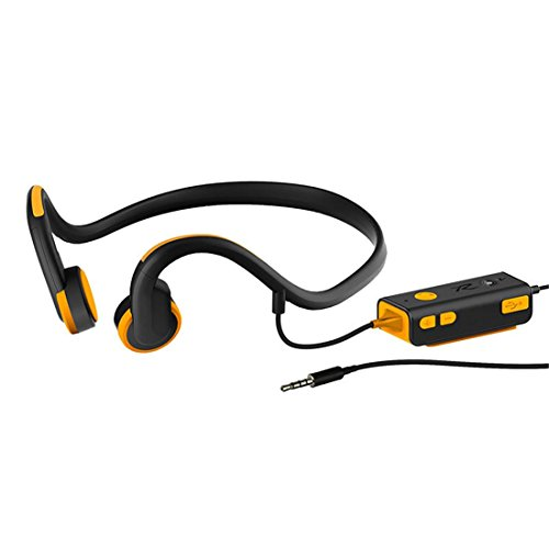 Joyeer Wireless Bluetooth Bone Dirigieren Sport Kopfhörer komfortabel Safe Running Freisprechen Musik Ohrhörer Sweatproof offenes Ohr Stereo Headset mit Mikrofon , orange