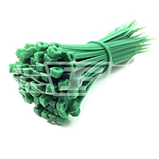 100 x CABLE TIES (Pick Your Colour) / TIE WRAPS / ZIP TIES, 2.5mm x 100mm + FREE UK DELIVERY (Green)