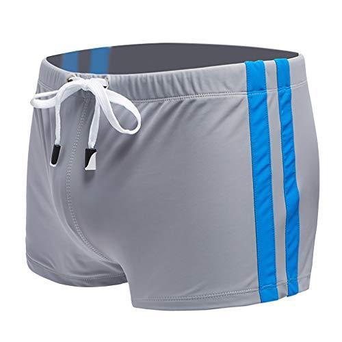 Yazidan Sexy Badeshorts für Herren Strand-Badeshorts Gestreifte Boxer-Badebekleidung Schwimmhose Shorts Trainingshose Beachshorts Schwimmen Trunks -