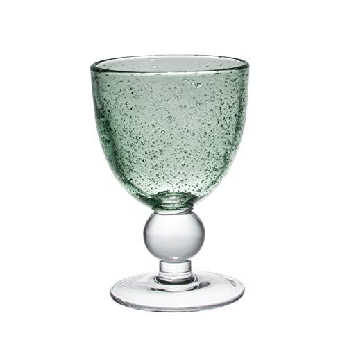 Table Passion - Verre à pied 35 cl artisan bullé vert clair (lot de 2)
