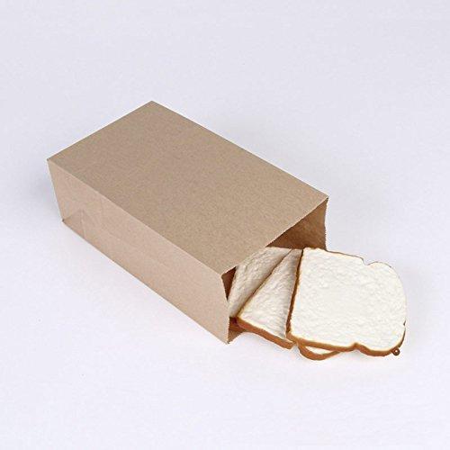 lesilverskys (TM) New 10pcs carta kraft sacchetti regalo piccoli Sandwich Pane Alimenti Sacchetti pacchetto partito bomboniere 24* 13* 8