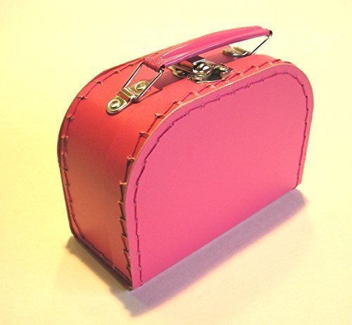 Koffer Pappe, fuchsia, klein, 16cm, Pappkoffer