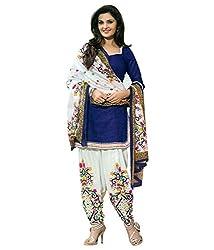 Yeoja Creation Women's Blue Cotton Unstiched Patiyala Dress Material (yeoja90_Blue)