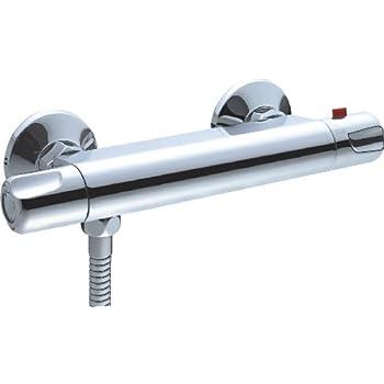 Aquatrends 199505 - Rubinetto per doccia, termostatico, modello Siena, colore: Cromo