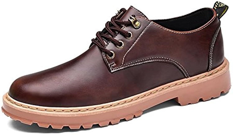 Xiazhi-scarpe, Scarpe Stringate Basse da Uomo in Pelle Sintetica con Lacci e Scarpe Stringate Oxford (Coloree   Marronee... | Non così costoso  | Scolaro/Signora Scarpa