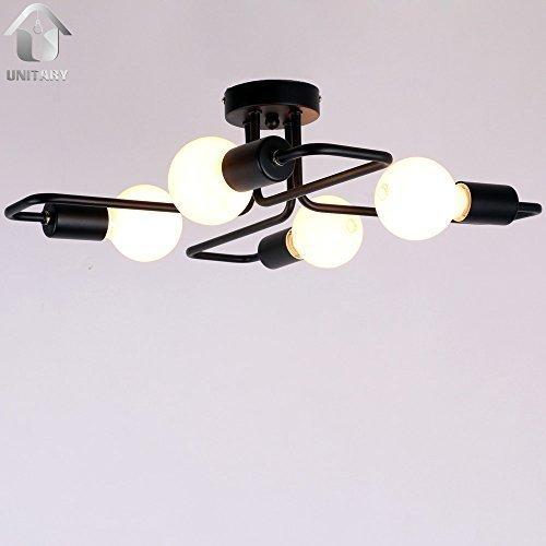 unitary-brand-flush-ceiling-light-metal-e27-4x40w-black-painted