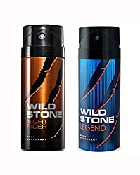 Wild Stone Night Rider And Legend Deodorant For Men (150 ML)