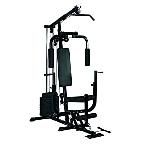 HOMCOM Multi Gym Workstation Home Workout Station Toning Body Building Strength Training Machine 40 kg Weight Plates