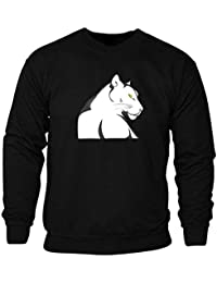 9cad758007fbba Unisexe Belle Panthère Animal Nature Sweat-Shirt Pull Noir