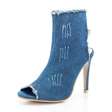 Sandali di estate delle donne calzature Club di caduta Novità Denim Outdoor Office & Carriera Partito e abito da sera Light Blue