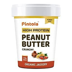 Pintola HIGH Protein Peanut Butter (ORGANIC JAGGERY) (Crunchy, 510g)