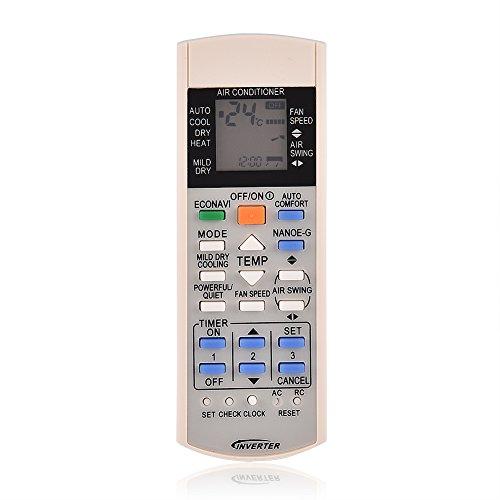 Richer-R Ersatzfernbedienung Klimaanlage, ABS Verschleißfest Klimaanlage Fernbedienung Remote Control für Panasonic A75c3300 A75c3208 A75c3706 A75c3708 Klimaanlage Weiß
