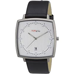 Pure Grey Watches Men's Quartz Watch 1665.9011 with Leather Strap