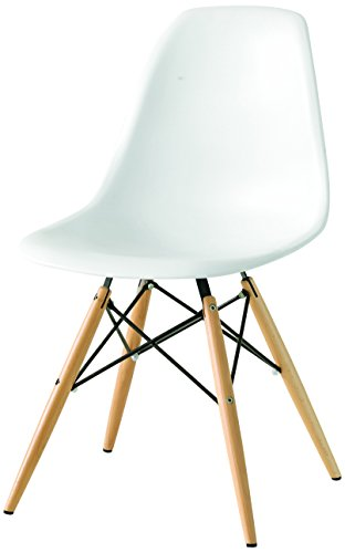 Fashion commerce fc636v sedia, bianco, 53.5 x 47 x 82 cm