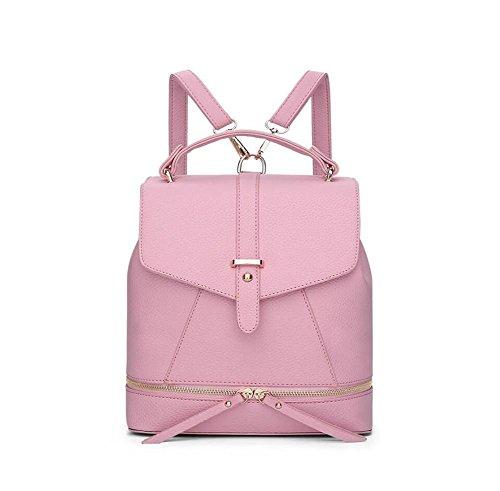 mujer-pu-cuero-universidad-mochila-mochila-bolsa-de-color-slido-bolsa-de-hombro-bolsa-bucket-pink-s