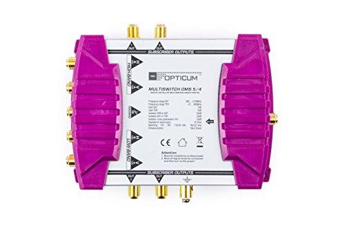 Opticum OMS 5/4p Line Multischalter (mit vergoldeten Kontakten) Gold
