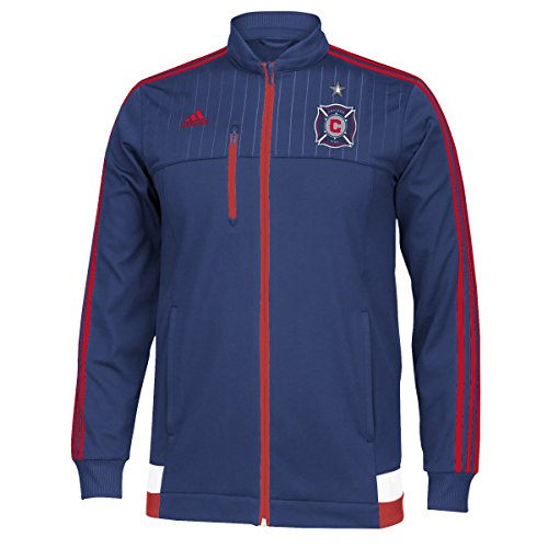 Adidas Chicago Fire MLS Anthem Authentic on Field Full Zip Track Jacket Veste