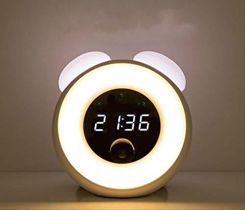Schreibtischlampe Tischlampetischleuchtenachttischlampeleselichtklemmlampekleine Nachtlicht Schlafzimmer Bett Kopf Tischlampe Sprachsteuerung Erfassung Zeit Alarm Alarm Plug-In