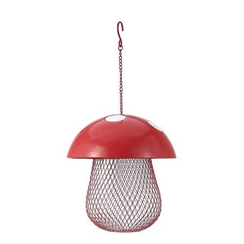 Vogelhäuschen, Pilzförmige Wildvogelfutterhäuschen-Hausgarten-hängende Dekoration Aus Metall Im Freien Vogel Fütterer -