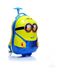 GOCART 16-inch Waterproof Polycarbonate 360 Rotating Egg Shaped Minion Printed 2 Single Spinner Wheel Hard Sided Yellow Trolley Bag for Boys and Girls