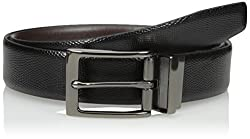 Van Heusen Mens Mens Reversible Traveler Leather Belt