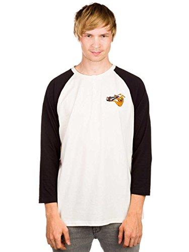 Herren Langarmshirt Volcom Volcom X Toy Machine 3/4 T-Shirt LS White
