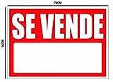Cartel Se vende 70x50cm | Cartel Publicitario Se vende | Señal de Se vende | Cartel Oportunidad Se vende | Fabricado en Lona con 4 ojales en cada esquina