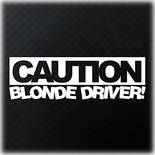 Preisvergleich Produktbild Caution Blonde Driver Aufkleber Girl Racer Lady Driven JDM DUB Fun Tuning Auto Decal Autoaufkleber