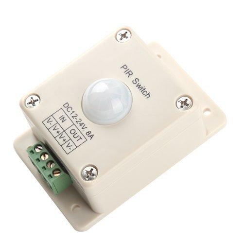 Automatische LED PIR Bewegungs-Sensor-Schalter LED-Licht Licht DC 12V-24V 8A